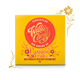 WILLIE'S CACAO ČOKOLÁDA WILLIE'S PASSION FRUIT, MLÉČNÁ, 50G