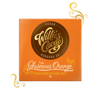 WILLIE'S CACAO ČOKOLÁDA WILLIE'S CUBAN ORANGE HOŘKÁ 65%, 50G